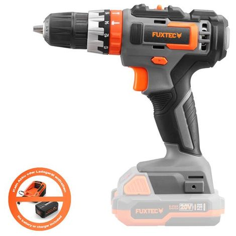 FUXTEC 20V cordless impact drill/driver - solo - E1SBS20 - no battery and charger included!