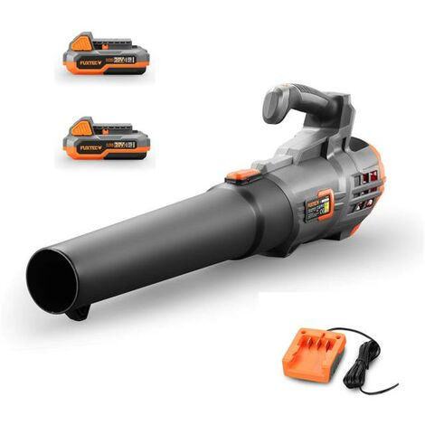 FUXTEC 20V cordless leaf blower - Kit FX-E1LB20 incl. 2 batteries (2Ah) and charger (1A)