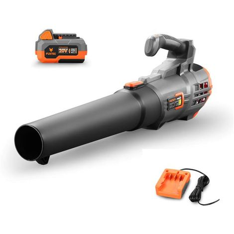 FUXTEC 20V cordless leaf blower - Kit FX-E1LB20 incl. battery (4Ah) and charger (1A)