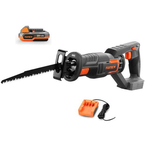 FUXTEC 20V cordless reciprocating saw - Kit FX-E1SS20 incl. battery (2Ah) and charger (1A)