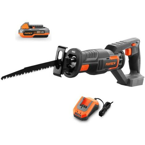 FUXTEC 20V cordless reciprocating saw - Kit FX-E1SS20 incl. battery (2Ah) and charger (2.4A)