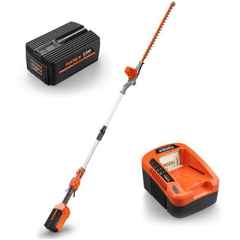 FUXTEC 40V cordless pole hedge trimmer - kit - cutting length 52cm E920D - incl. battery and charger
