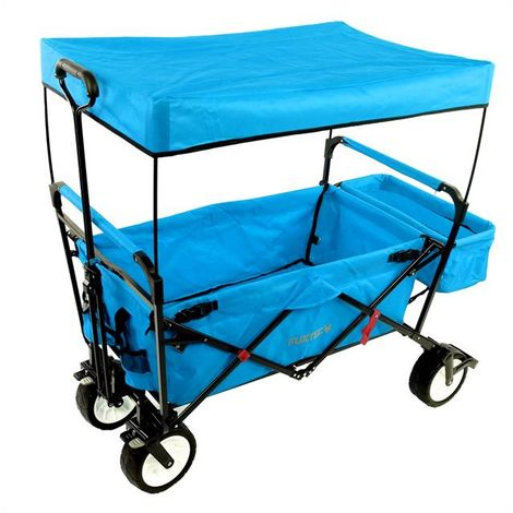 FUXTEC Folding Wagon / Foldable Wagon / Trolley / Hand Cart JW-76C TURQUOISE/BLUE