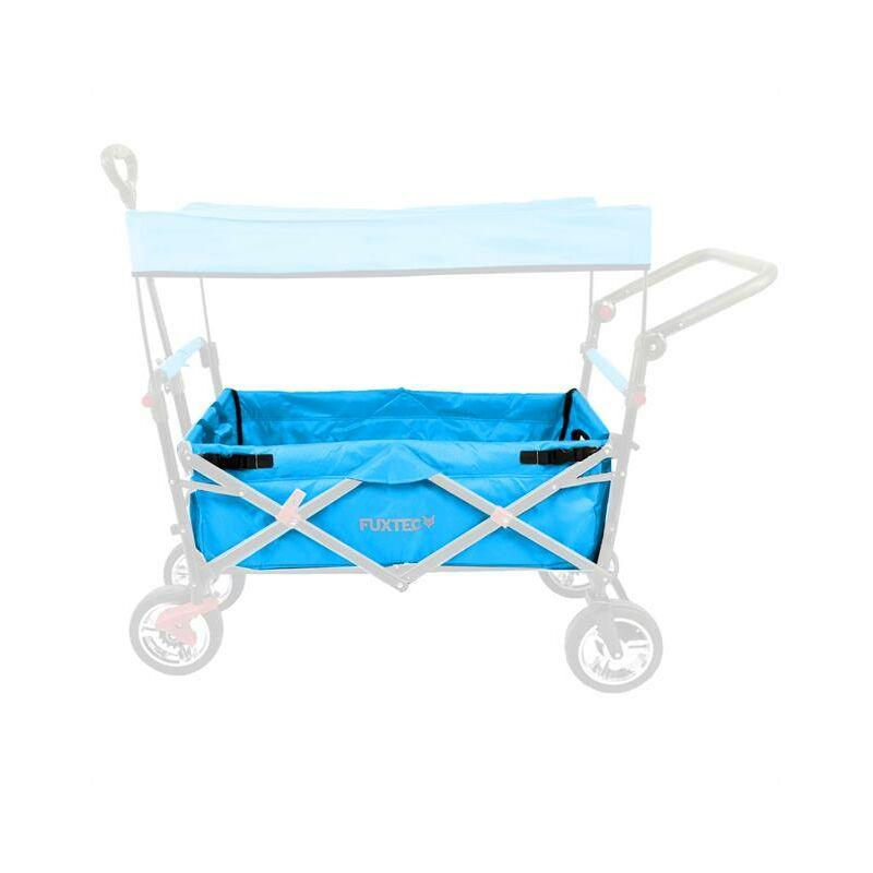 Tissu d'habitacle chariot de transport pliable FX-CT700 en turquoise - Fuxtec