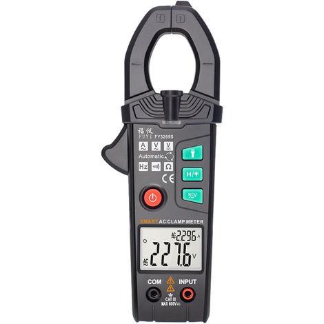 Fuyi Ac Pince 6000 Nombre De Haute Precision Automatique Gamme Pince Multimetre Multifonction Double Parametre Affichage Trms Pince De Courant Ac Amperemetre Gauge Pince Noire Fy3269S