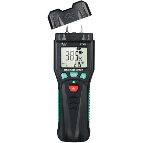 Fuyi Detecteur D'Humidite Numerique Detecteur D'Humidite En Bois Testeur D'Humidite En Bois