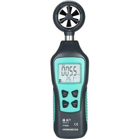 Fuyi Numerique Anemometre Thermometre Vitesse Du Vent Compteur De Vitesse D'Air Testeur De Temperature Avec Max / Min / Donnees