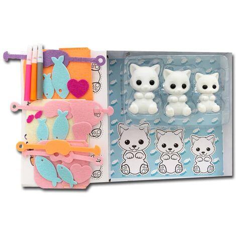 Fuzzikins Craft & Play Kit Cats - Multicolour