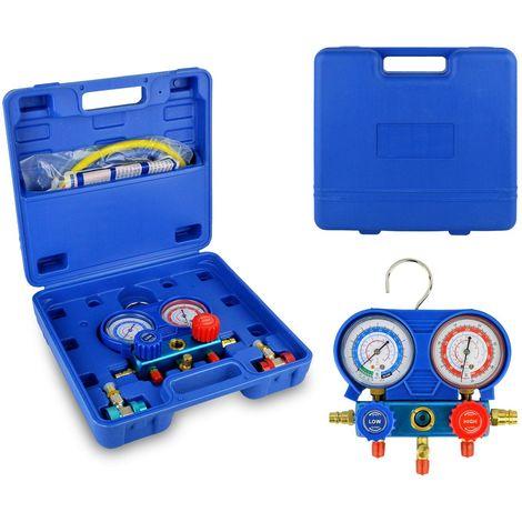 G02670 Manometro de dos vías medidor de presión gases para aire acondicionado
