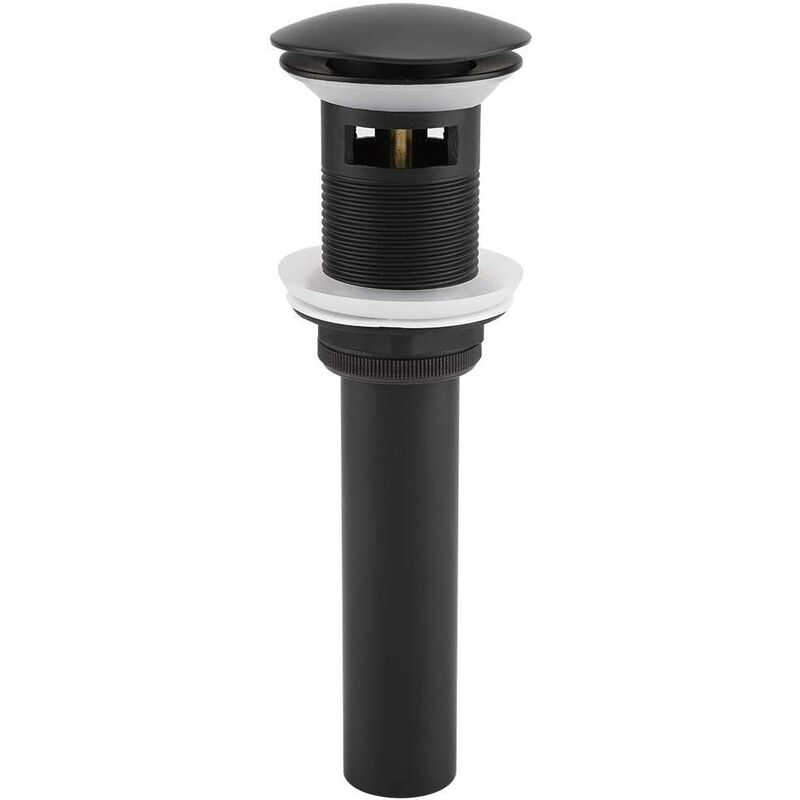 G1 1/4 'Pop-up Waste Drain Pop-up Pop-up Drain For Kitchen Sink Drain Sink Drain (Black Chrome)