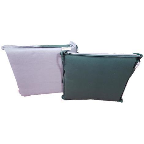 Cuscini Per La Casa.G400e1 Cuscino Per Sedia 40x40x5cm Verde Grigio Casa Giardino