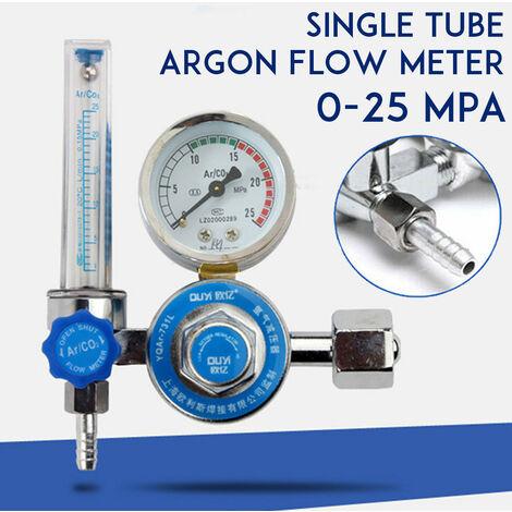 G5 / 8 Argon CO2 Gas Mig Tig Medidor de flujo Soldadura Regulador de soldadura Manómetro Soldador 0-25MPa (medidor de flujo de argón de un solo tubo)