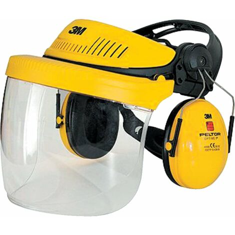 G500 Industrial Headgear VISOR, Optime II Ear Muff