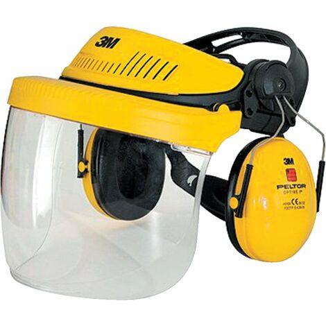 G500 Industrial Headgear VISOR, Optime II Ear Muff