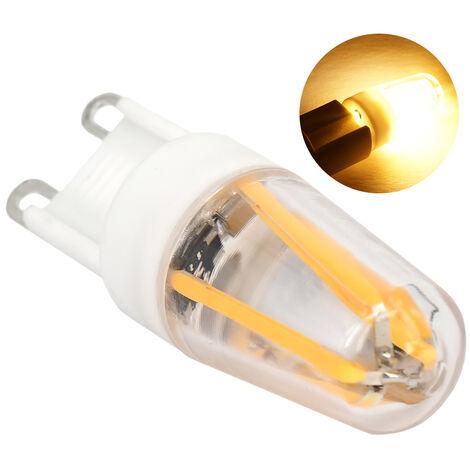 G9 diodo emisor de luz de la lampara de tungsteno 220 COB-Diodo emisor de luz de bulbo de la lampara de la sala de estar de luz, blanca calida iluminacion de la lampara