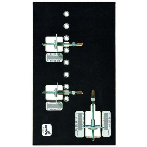 Gabarit HETTICH Practica pour perçage de fixation de façade de tiroirs - 9162018