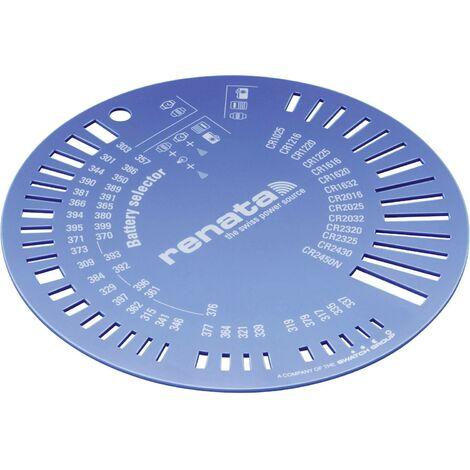 Gabarit pour piles bouton Renata ZW9801 Q082151