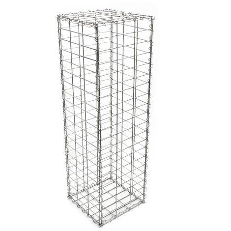 Gabbione metallico per sassi pietre recinzione recinto divisorio 100x50x30 cm
