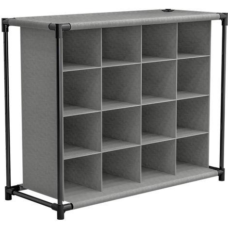 Gabinete de almacenamiento de zapatos en tela 4 niveles estante LAVENTE