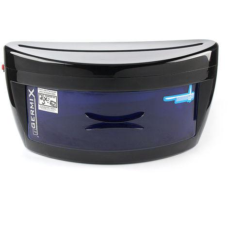 Gabinete de desinfeccion de limpieza UV de una sola capa, 8 W, negro