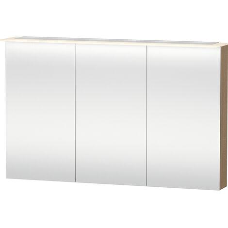 Gabinete de espejos Duravit X-Large 7596, 3 puertas de espejos, 1200 mm, Color (frente/cuerpo): Flanela Gris seda lacado mate - XL759609090