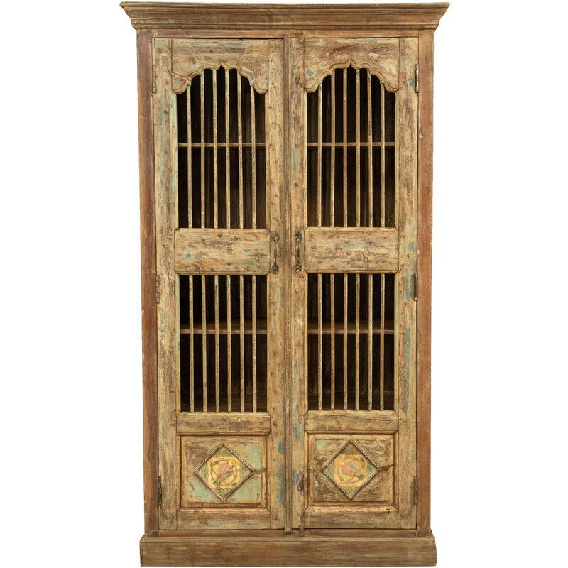 Biscottini - Gabinete de madera maciza reciclada con acabado antiguo