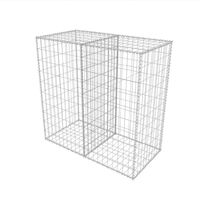 Gabion Basket Galvanised Steel 100x50x100 cm