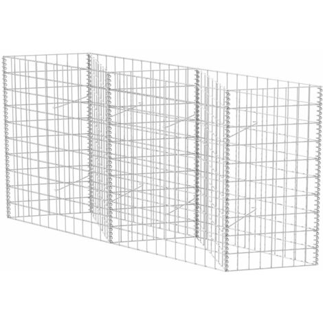 Gabion Basket Galvanised Steel 120x30x100 cm