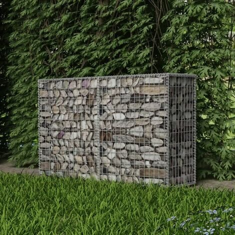 Gabion Basket Galvanised Steel 150x50x100 cm - Silver