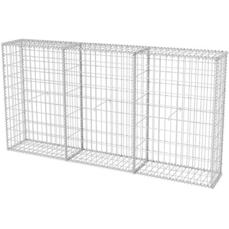 Gabion Basket Galvanised Steel 200x30x100 cm