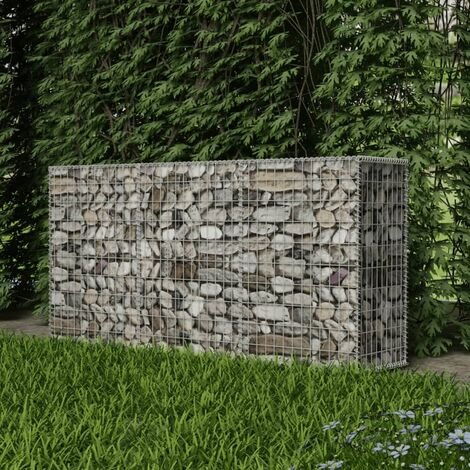 Gabion Basket Galvanised Steel 200x50x100 cm