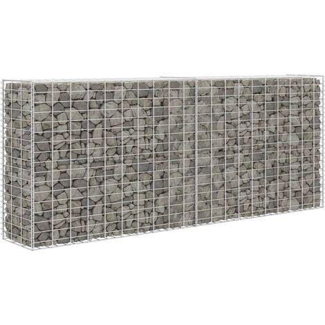 Gabion Basket Galvanised Steel 85x30x200 cm - Silver