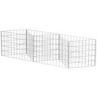 Gabion Basket/Planter/Raised Vegetable Bed Steel 120x30x50 cm