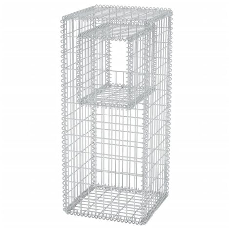 Gabion Basket Post/Planter Steel 50x50x120 cm