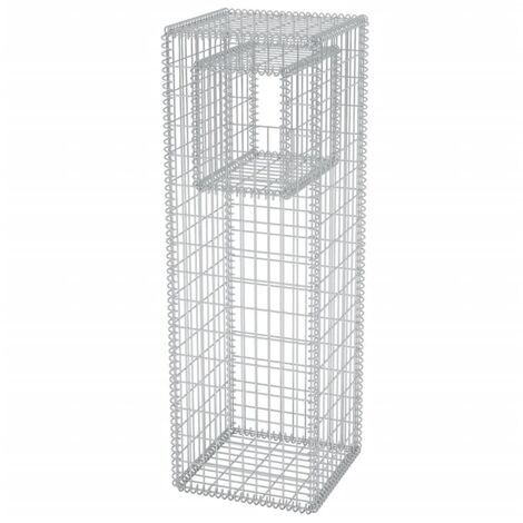 Gabion Basket Post/Planter Steel 50x50x160 cm
