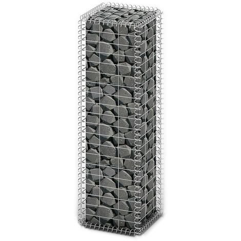 Gabion Basket with Lids Galvanised Wire 100 x 30 x 30 cm
