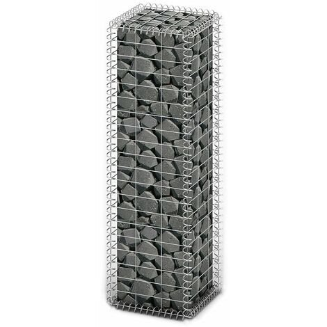 Gabion Basket with Lids Galvanised Wire 100 x 30 x 30 cm - Silver
