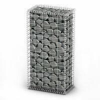 Gabion Basket with Lids Galvanised Wire 100 x 50 x 30 cm