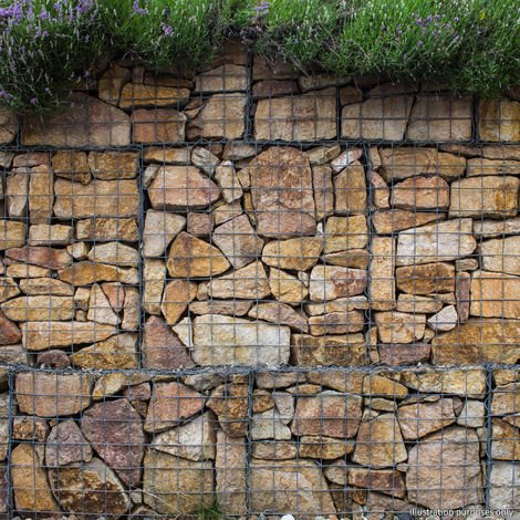 Gabion Baskets 100 x 30 x 30cm / 3 Pack