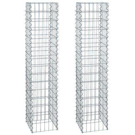 """main image of """"Gabion colonne 150cm 2x gabions 4 angles 30x30cm panier pierre gabions colonne"""""""