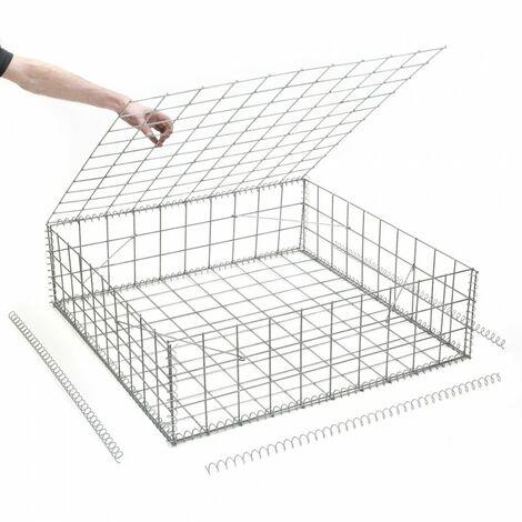 Gabion en kit - 100 cm x 100 cm x 30 cm - différentes mailles disponibles - Rinno Gabion