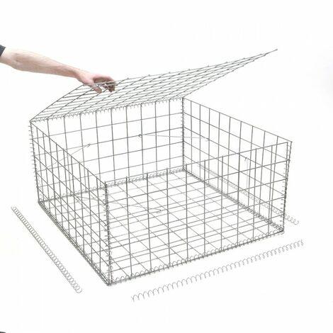 Gabion en kit - 100 cm x 100 cm x 50 cm - différentes mailles disponibles - Rinno Gabion
