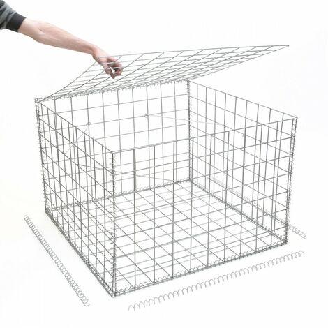 Gabion en kit - 100 cm x 100 cm x 70 cm - différentes mailles disponibles - Rinno Gabion