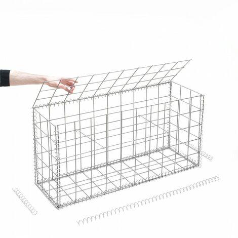Gabion en kit - 100 cm x 30 cm x 50 cm - différentes mailles disponibles - Rinno Gabion