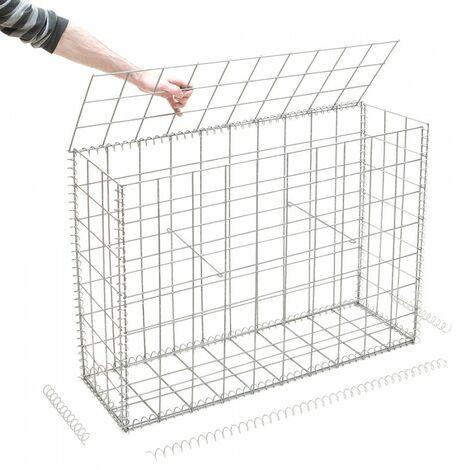 Gabion en kit - 100 cm x 30 cm x 70 cm - différentes mailles disponibles - Rinno Gabion