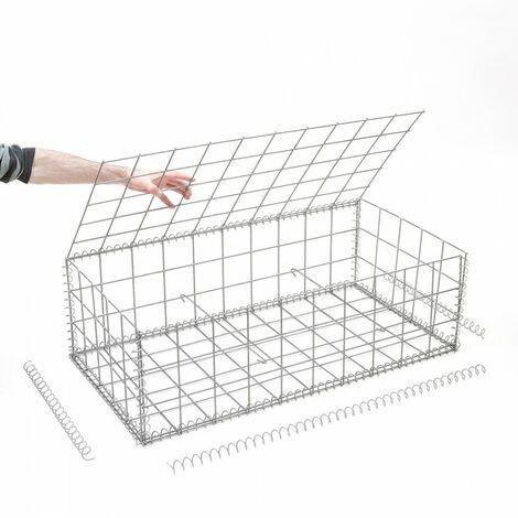 Gabion en kit - 100 cm x 50 cm x 30 cm - différentes mailles disponibles - Rinno Gabion