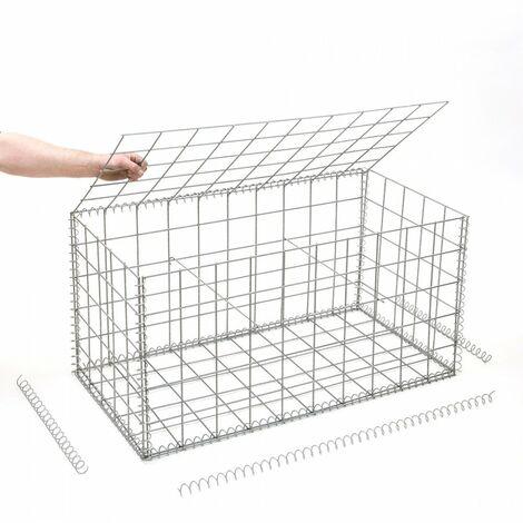 Gabion en kit - 100 cm x 50 cm x 50 cm - différentes mailles disponibles - Rinno Gabion