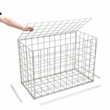 Gabion en kit - 100 cm x 50 cm x 70 cm - différentes mailles disponibles - Rinno Gabion