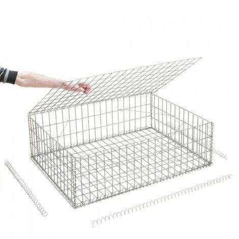 Gabion en kit - 100 cm x 70 cm x 30 cm - différentes mailles disponibles - Rinno Gabion