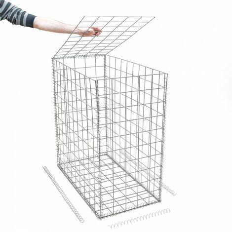 Gabion en kit - 50 cm x 100 cm x 100 cm - différentes mailles disponibles - Rinno Gabion